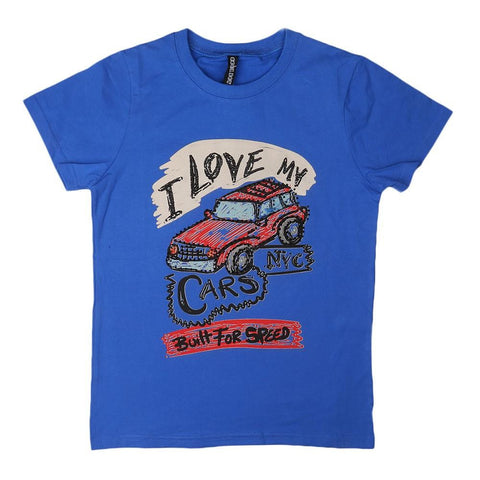 Boys Round Neck T-Shirt - Blue - test-store-for-chase-value