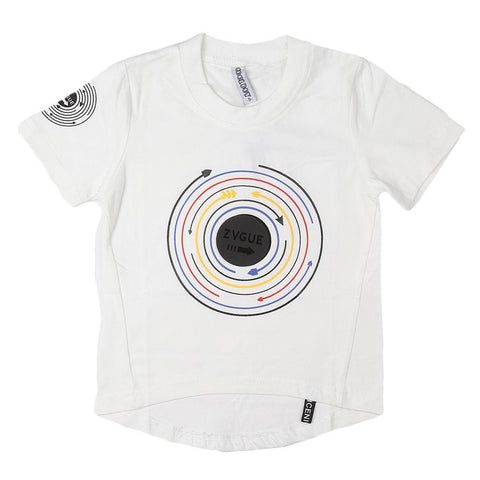Boys Round Neck T-Shirt - White - test-store-for-chase-value