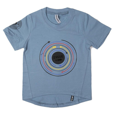 Boys Round Neck T-Shirt - Grey - test-store-for-chase-value