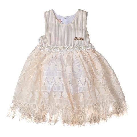 Newborn Girls Frock - Fawn - test-store-for-chase-value
