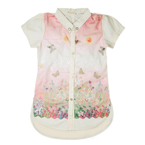 Girls Embroidered Shirt - Fawn - test-store-for-chase-value