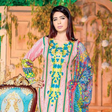 Rana Arts Allure Embroidered Lawn Collection 2018 - (AY104-B) - test-store-for-chase-value