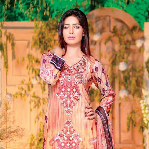 Rana Arts Allure Embroidered Lawn Collection 2018 - (AY105-A) - test-store-for-chase-value