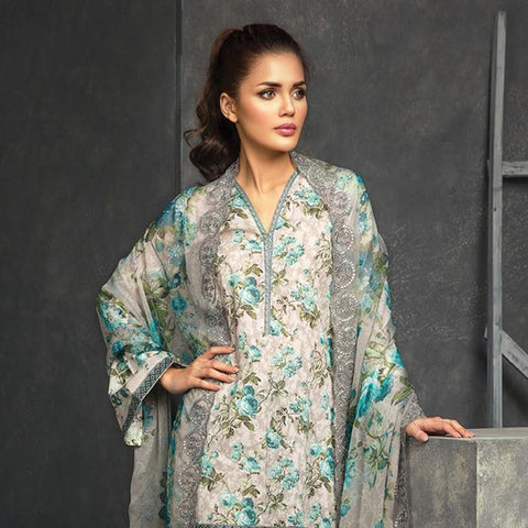 Orient Exclusive Chiffon Embroidered Suit-A022 - test-store-for-chase-value