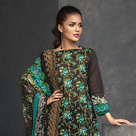 Orient Exclusive Chiffon Embroidered Suit-B023 - test-store-for-chase-value