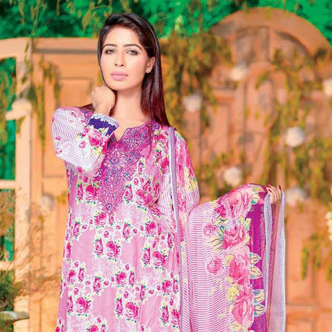 Rana Arts Allure Embroidered Lawn Collection 2018 - (ESR14-A) - test-store-for-chase-value