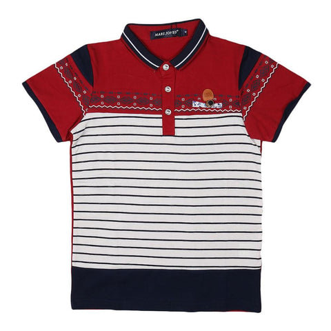 Boys Polo T-Shirt - Maroon - test-store-for-chase-value