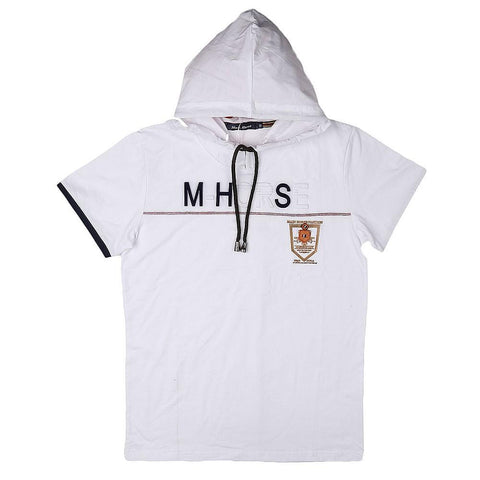 Boys Hooded T-Shirt - White - test-store-for-chase-value