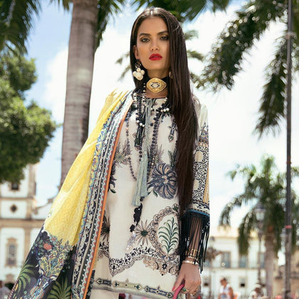 Elan Designer Embroidered Lawn Suit - 1A - test-store-for-chase-value