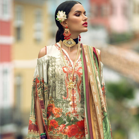 Elan Designer Embroidered Lawn Suit - 2A - test-store-for-chase-value
