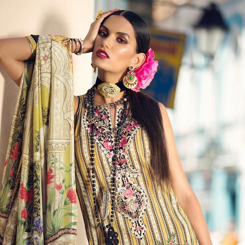 Elan Designer Embroidered Lawn Suit - 4A - test-store-for-chase-value