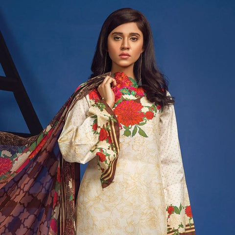 Orient 2 Pcs Chiffon Embroidered Suit A-017 - test-store-for-chase-value