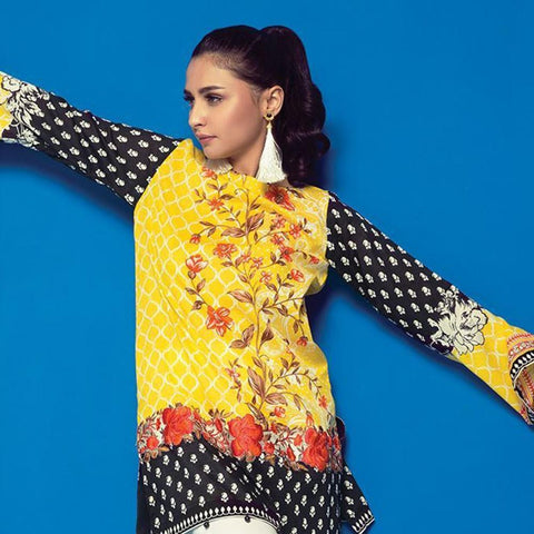 Orient 1 Pcs Embroidered Lawn Kurti A-036 - test-store-for-chase-value