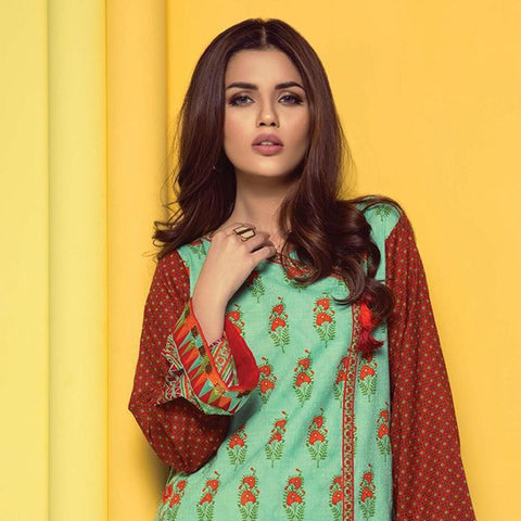 Orient 1 Pcs Embroidered Lawn Kurti B-015 - test-store-for-chase-value