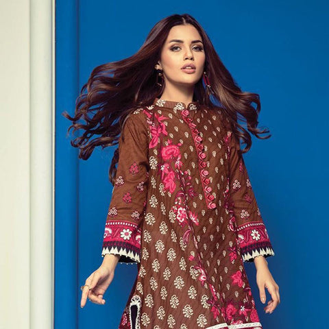 Orient 1 Pcs Embroidered Lawn Kurti B-016 - test-store-for-chase-value