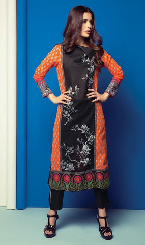 Orient 1 Pcs Embroidered Lawn Kurti B-025 - test-store-for-chase-value