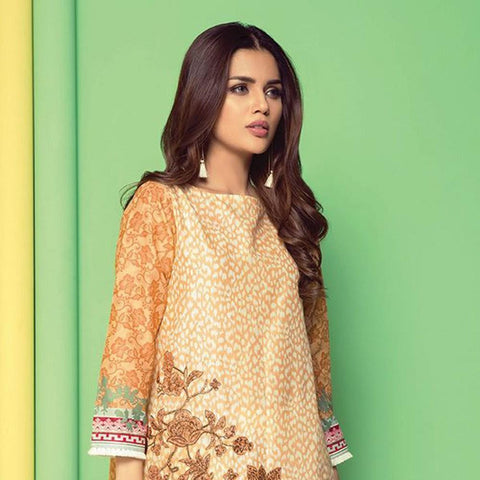 Orient 1 Pcs Embroidered Lawn Kurti B-045 - test-store-for-chase-value
