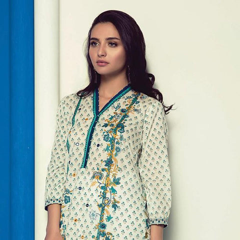 Orient 1 Pcs Embroidered Lawn Kurti A-013 - test-store-for-chase-value