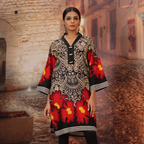 Chase Value Centre Printed Khaddar Un-Stitched Kurti Vol 3 - 10