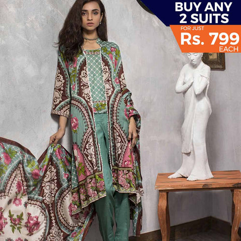 Three Star Printed Lawn Suit Vol 4- 8A