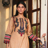Cotrina Printed Cotton 3 Piece Un-Stitched Suit - 14
