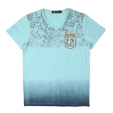 Boys V-Neck T-Shirt - Cyan - test-store-for-chase-value