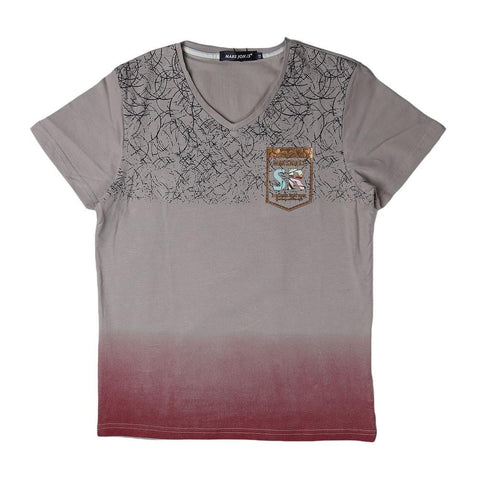 Boys V-Neck T-Shirt - Beige - test-store-for-chase-value