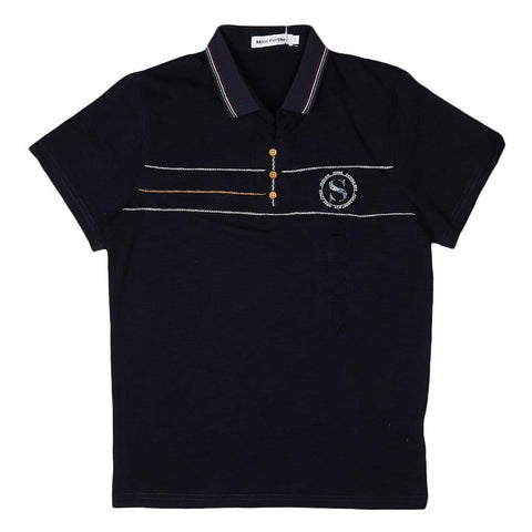Boys Polo T-Shirt - Navy-Blue - Navy/Blue - test-store-for-chase-value