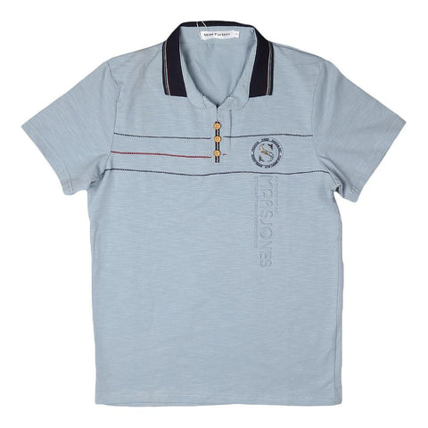 Boys Polo T-Shirt - Light-Blue - Light Blue - test-store-for-chase-value