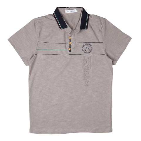 Boys Polo T-Shirt - Beige - test-store-for-chase-value
