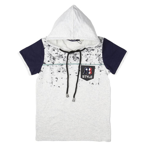 Boys Hooded T-Shirt - Light-Grey - Light Grey - test-store-for-chase-value