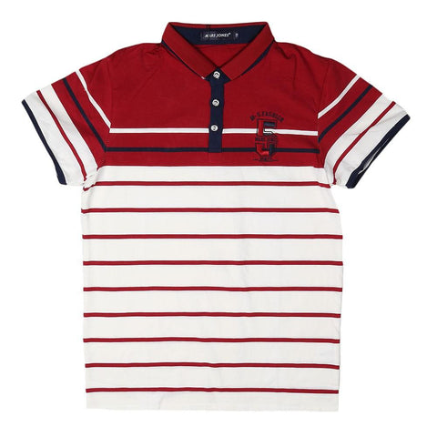 Boys Polo T-Shirt - Red & White - test-store-for-chase-value