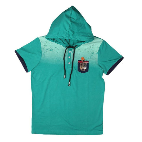 Boys Hooded T-Shirt - Green - test-store-for-chase-value