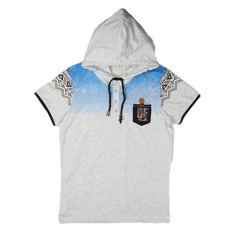 Boys Hooded T-Shirt - Light Grey - test-store-for-chase-value