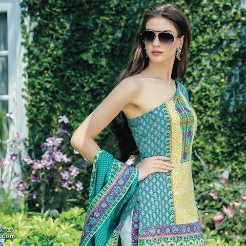 Subhata Printed Lawn Suit 4A - test-store-for-chase-value