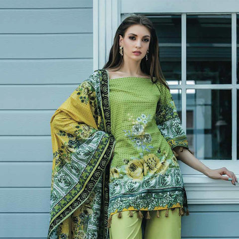 Subhata Printed Lawn Suit 6A - test-store-for-chase-value