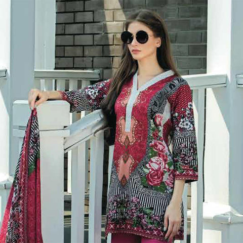 Subhata Printed Lawn Suit 1B - test-store-for-chase-value