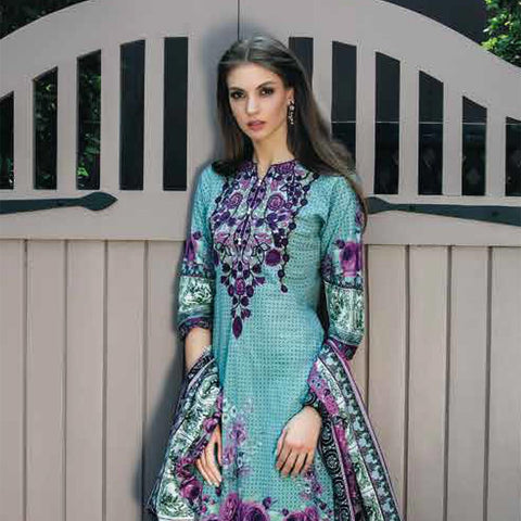 Subhata Printed Lawn Suit 6B - test-store-for-chase-value