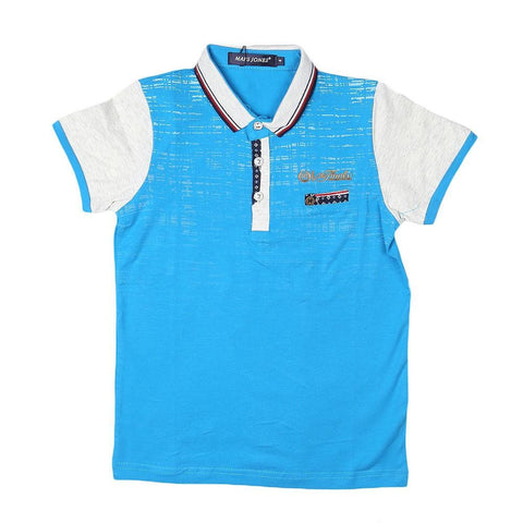 Boys Polo T-Shirt - Blue - test-store-for-chase-value