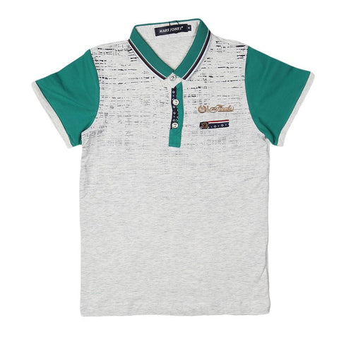 Boys Polo T-Shirt - Light Grey - test-store-for-chase-value