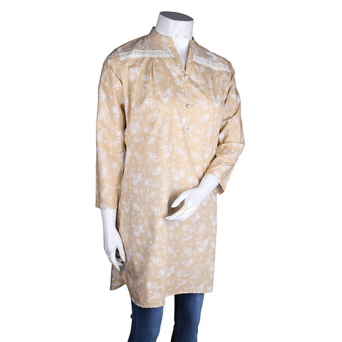 Women's Cotton Kurti - Fawn - test-store-for-chase-value