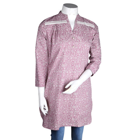 Women's Cotton Kurti - Purple - test-store-for-chase-value