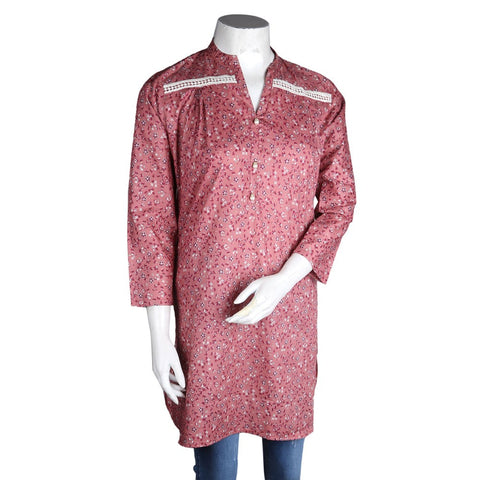 Women's Cotton Kurti - Pink - test-store-for-chase-value