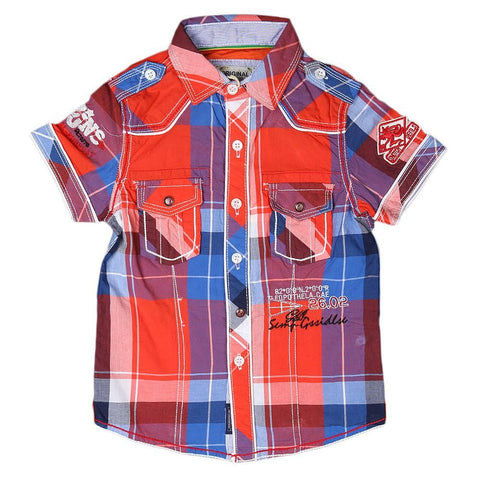 Boys Casual Shirt - Multi - test-store-for-chase-value