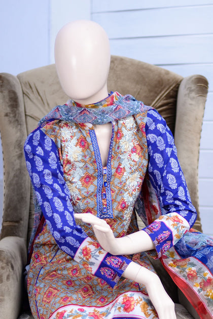 Bellisimo Embroidered Lawn Suit - 6A - test-store-for-chase-value