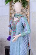 Bellisimo Embroidered Lawn Suit - 7B - test-store-for-chase-value