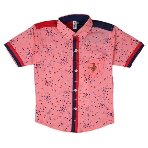 Boys Casual Shirt - Pink - test-store-for-chase-value