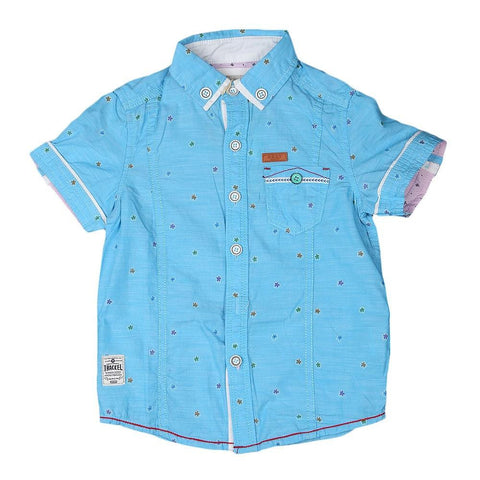 Boys Casual Shirt - Sky-Blue - Sky Blue - test-store-for-chase-value
