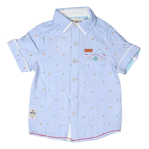 Boys Casual Shirt - L-Blue - Light Blue - test-store-for-chase-value
