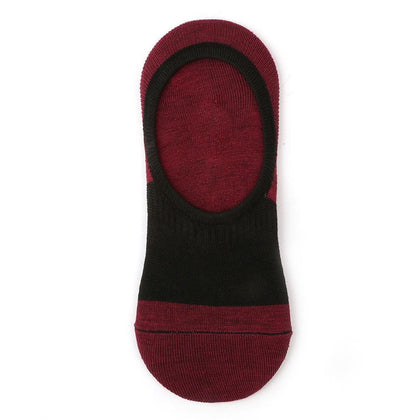 Men's Loafer Socks - Maroon - test-store-for-chase-value
